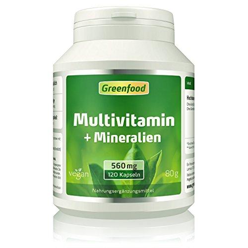 Multivitamin, 560 mg, 120 Kapseln, vegan – 100% Tagesbedarf an Vitaminen, Mineralien und Spurenelementen. Sehr hohe Bioverfügbarkeit!