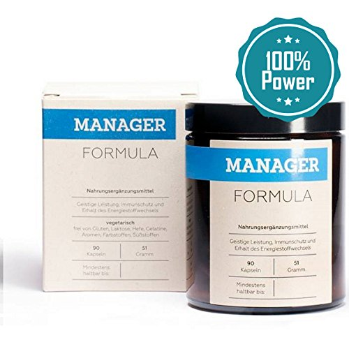 Manager Formula | Booster Für 100% Mehr Leistung, Energie & Gesundheit | Hochdosierte Vitamine und Mineralien als A-Z Kapseln mit OPC & Multivitamin | 90 Konzentration Tabletten für Herren & Frauen