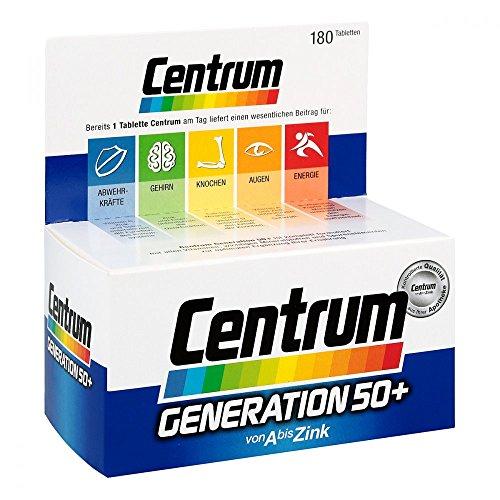 Centrum Gen.50+ A-Zink + FloraGlo Lutein Caplette, 180 St