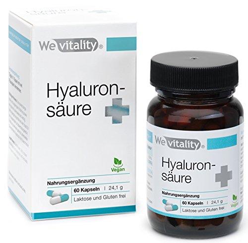 Wevitality Hyaluronsäure Plus: 60 Kapseln Hochdosiertes Hyaluron 90mg Vegan, Von Apotheker Entwickelt Und In Deutschland Hergestellt, Mit Vitamin C, Zink, Granatapfelkern-Mehl