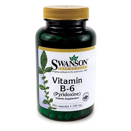 Swanson – Vitamin B6 (Pyridoxin HCI) 100mg, 250 Kapseln – Hochdosiert Nahrungsergänzung in Bio-Aktive Form (Vitamin B-6 capsules – Phosphate Pyridoxin Supplement – Nahrungsergänzungsmittel)