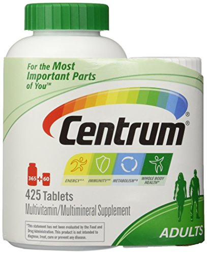 Centrum Multivitamin for Adults (425 TOTAL TABLETS including a bonus travel size bottle) by Centrum
